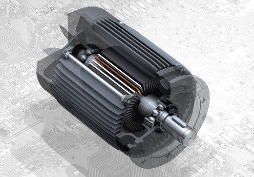 trojfázový elektromotor